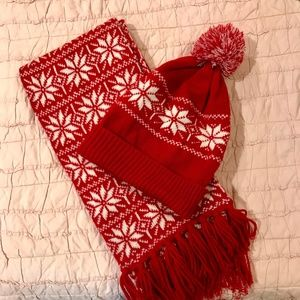 J.Crew winter hat and scarf set